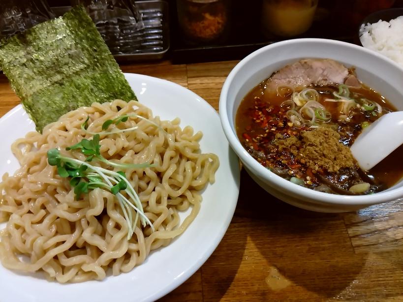 つけ麺(豚骨醤油、辛いVer.)