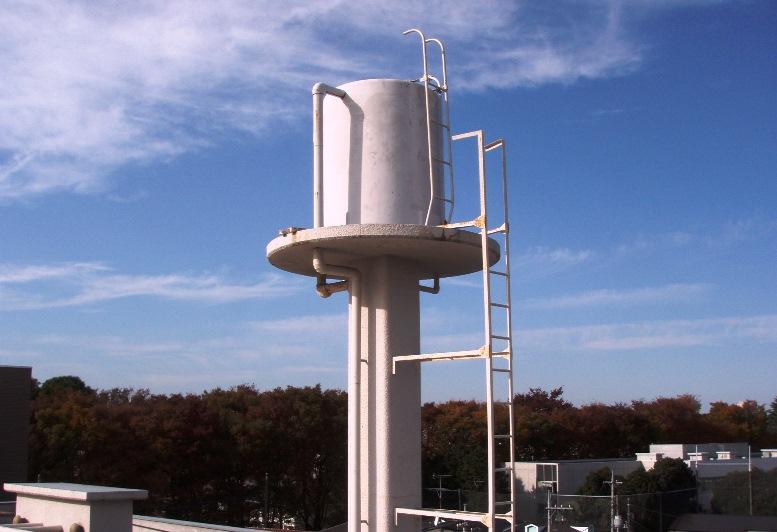 高架水槽補強前