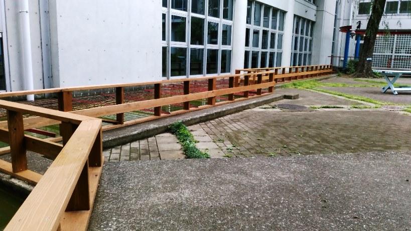 池の木柵完成