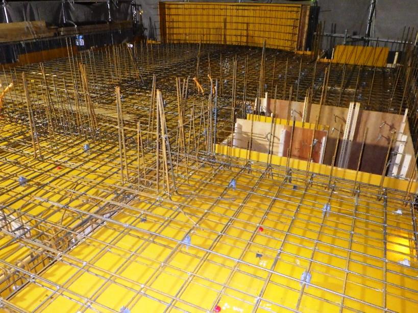 2階スラブ型枠&鉄筋工事