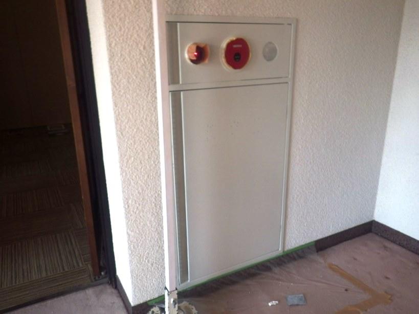 消火栓の扉乾燥