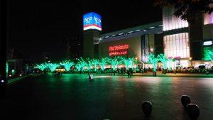 アリオ川口街路樹ライトアップ