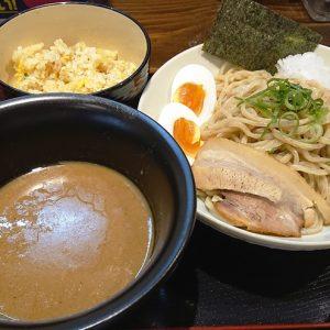 煮干しつけ麺+半チャーハン