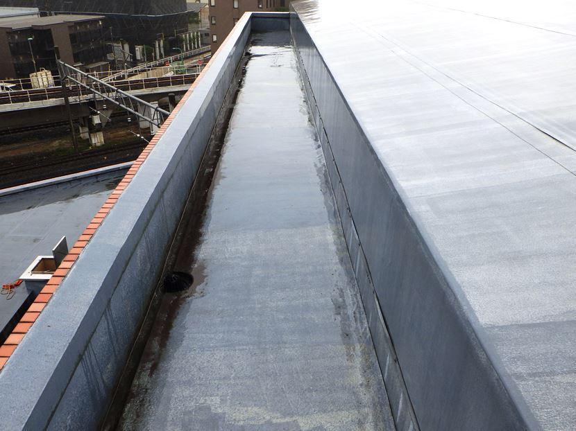 防水トップコート工事施工前