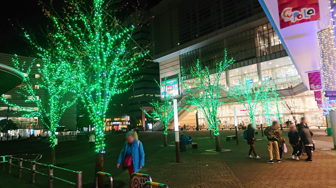 川口駅前イルミネーション キュポ・ラ広場