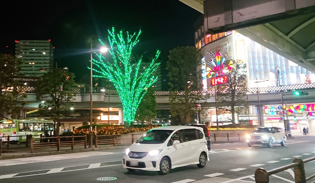 川口駅前イルミネーション 東口ロータリー